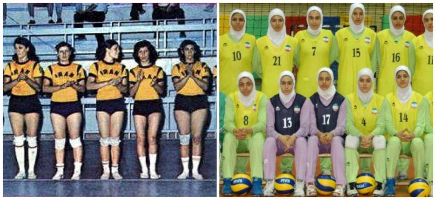 Nazionale iraniana pallavvolo femminile, prima e dopo l'islam al potere.