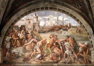 La Battaglia di Ostia, Raffaello Sanzio e allievi (1515)