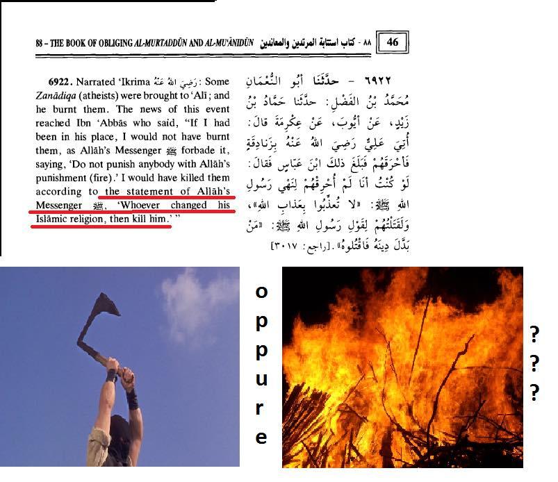 islam apostasia fuoco