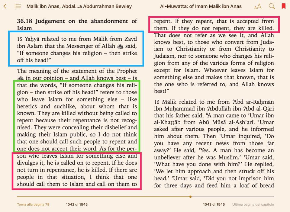 apostasia islam malikita