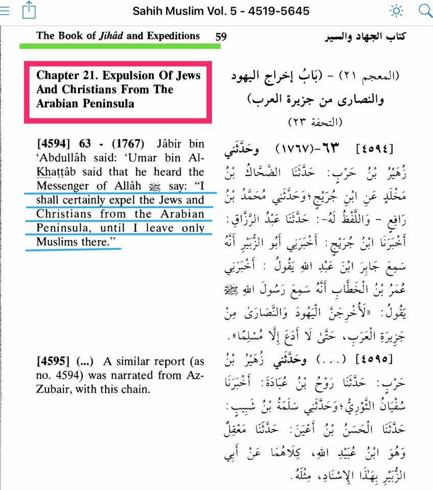 divieto infedeli penisola araba