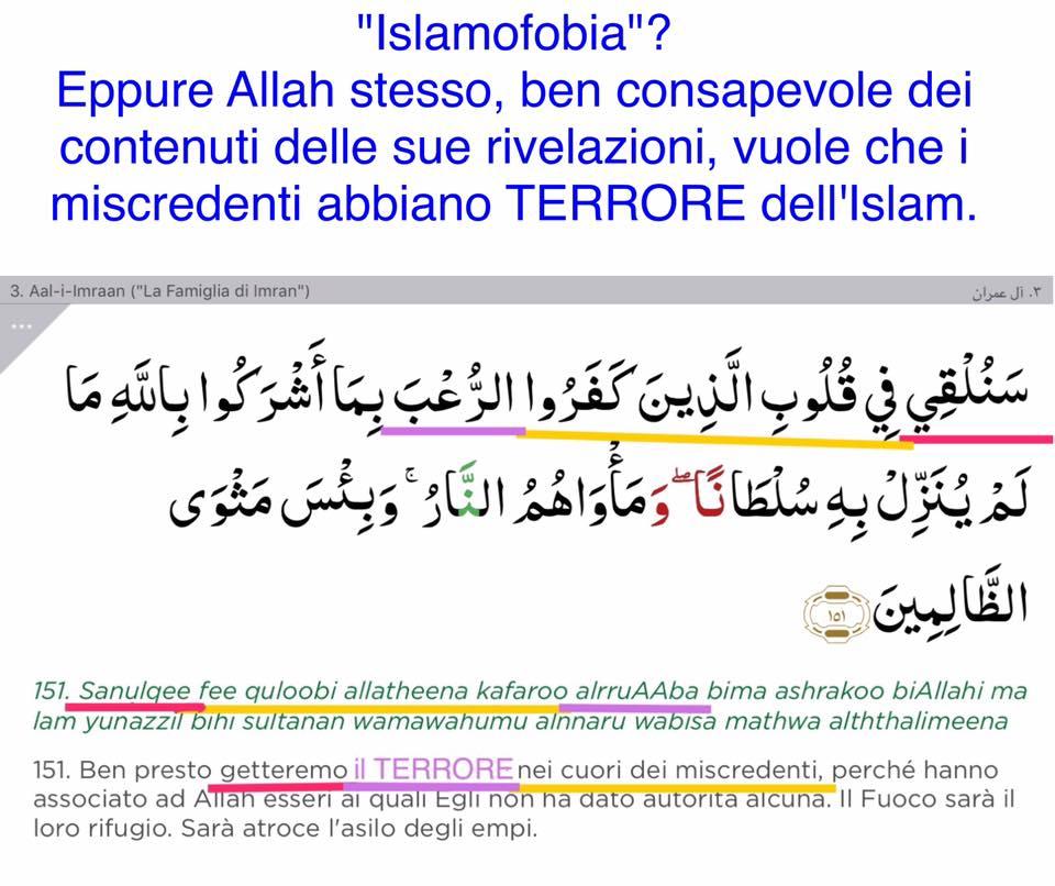 islamofobia allah terrore